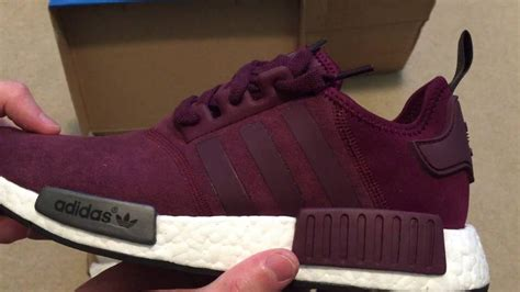 Adidas Nmd Purple Burgundy adidas nmd r1 quot maroon quot sneaker unboxing