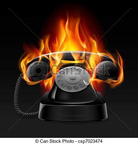 fireplace der clip eps vektor feuer realistisch retro telefon