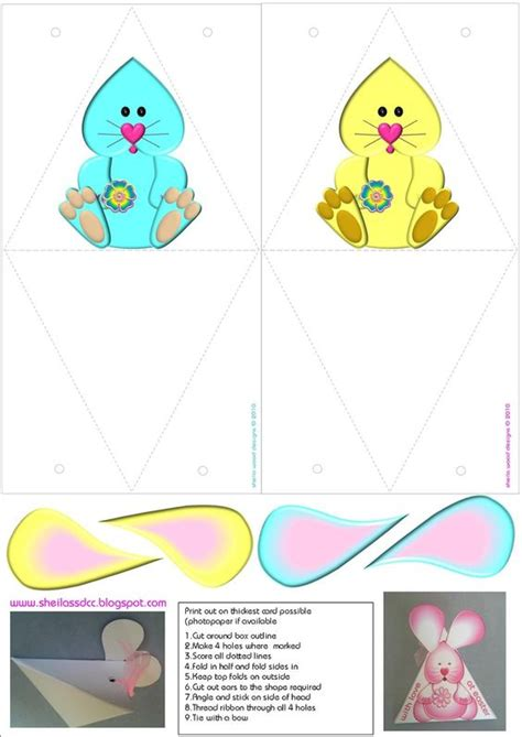 templates for easter boxes bunnies box templates and boxes on pinterest