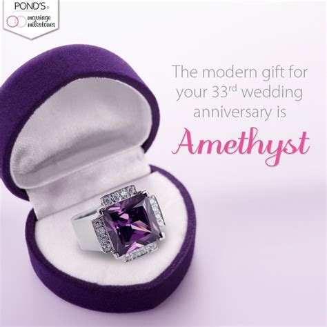 Amethyst is the gift for your 33rd #anniversary. #marriage