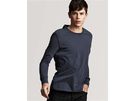 Patch Check Shirt By Famo burberry sleeve t shirt with check patches in blue for blue carbon lyst