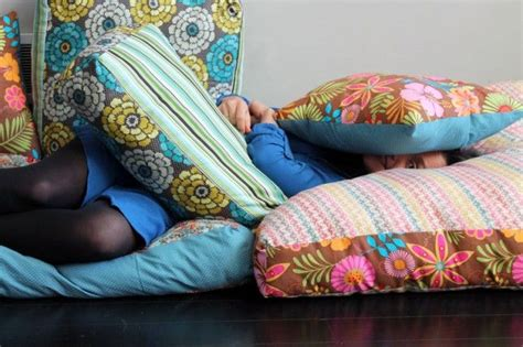 Jumbo Floor Pillows by How To Create Your Own Colorful Jumbo Floor Pillows