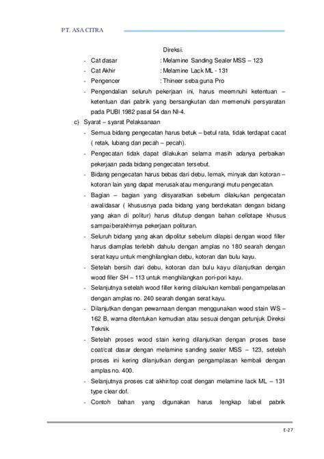 Melamine Sanding Sealer Impra Mss 123 e pendekatan metodologi dan program kerja1