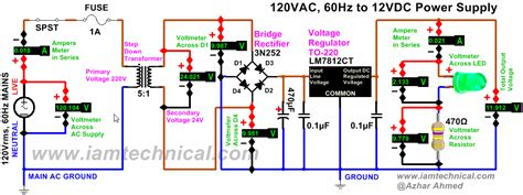 Power Lifier Wisdom regulated 120vac to 12vdc power supply using voltage