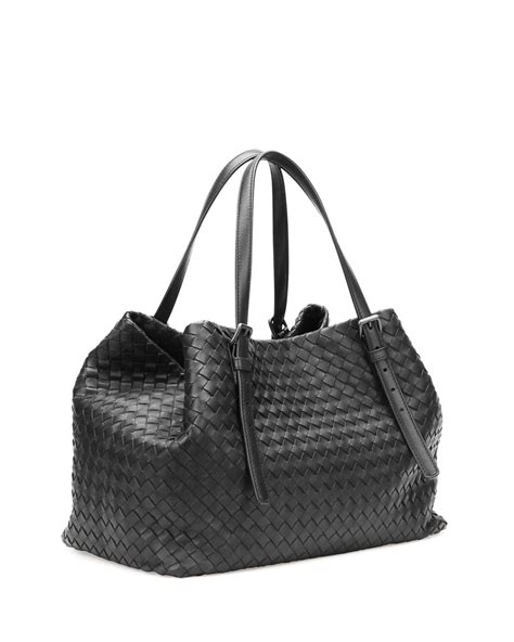 Bottega Veneta Deerskin Woven Tote by Bottega Veneta A Shape Woven Tote Bag In Black Save 16