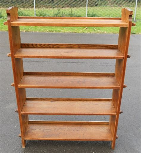 sided bookshelves arts craft oak peg sided open bookshelves 257314