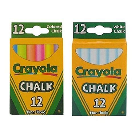 crayola chalk white colored  pack  pack  white