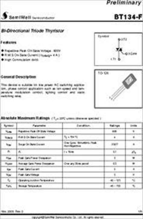 transistor mosfet sfp50n06 bt134 600b datasheet bi directional triode thyristor