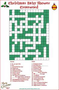 baby shower crossword puzzle baby shower