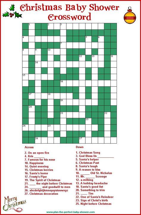 Baby Shower Crossword by Baby Shower Crossword Puzzle Baby Shower