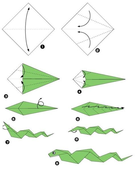 Easy Origami Snake - serpent origami snakes origami and