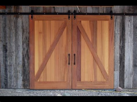barn doors sliding pole barn doors youtube