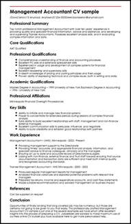 management accountant cv sle myperfectcv