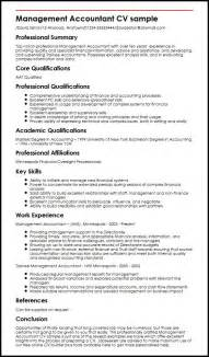 Covering Letter For Accountant Cv by Management Accountant Cv Sle Myperfectcv