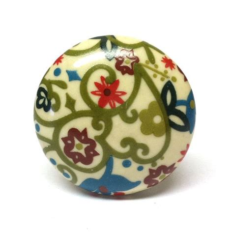Floral Drawer Knobs Colorful Floral Knob Dresser Knobs Cabinet Knobs