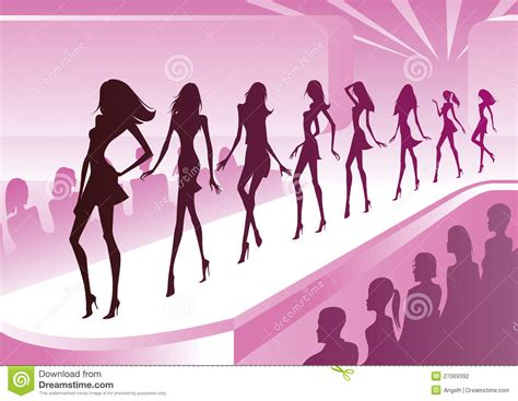 art beauty camera clothes fashion fashion models show new clothes stock vector