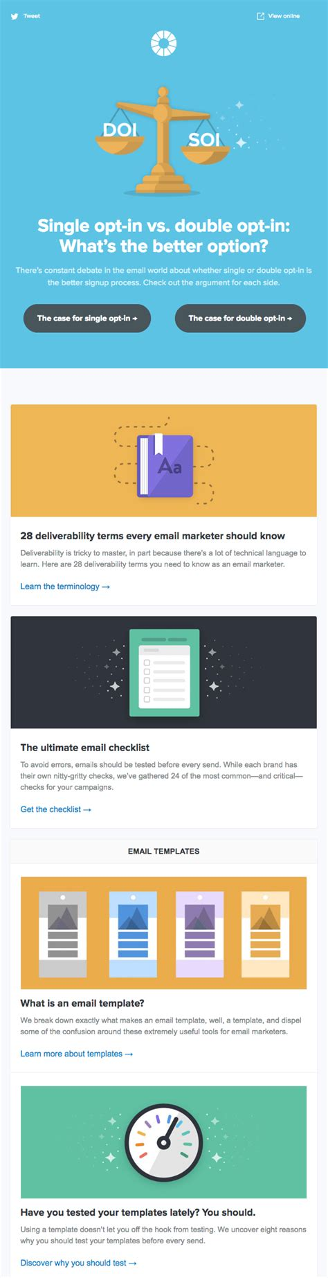 email newsletter examples youve