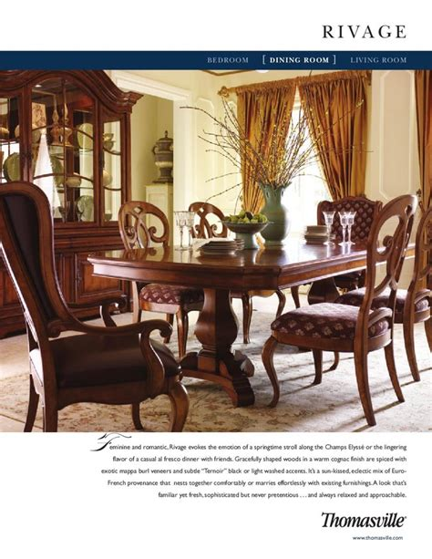 Thomasville Dining Room Sets Discontinued by Thomasville Rivage Dining Room China To Get And