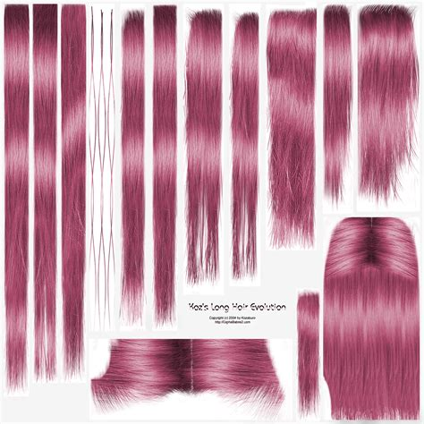 by long hair i love how my textures look on this hair too pinkie pie hair texture for evo long hair by