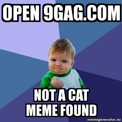 9gag Meme Maker - meme bebe exitoso open 9gag com not a cat meme found