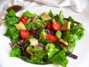 mixed vegetable and avocado salad with almond herbed