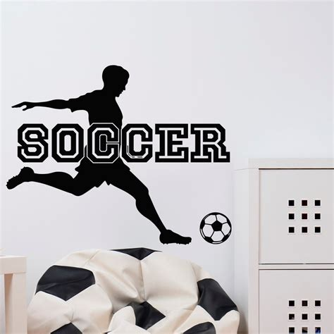 sports stickers for walls soccer wall decal sports football player sport wall