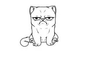 Grumpy Cat By FudgeTheDog On DeviantArt sketch template