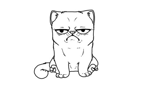 grumpy cat coloring pages coloring pages