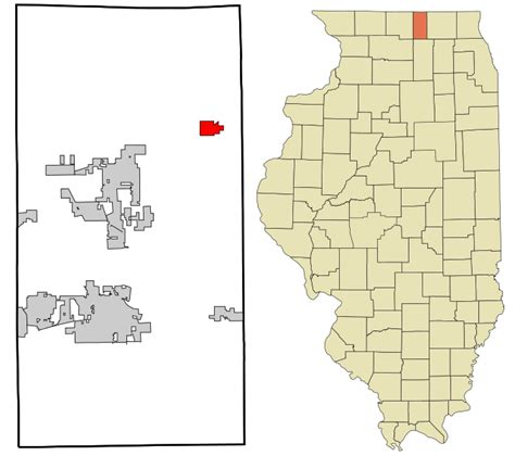 Boone County Search File Boone County Illinois Incorporated And Unincorporated Areas Capron Highlighted