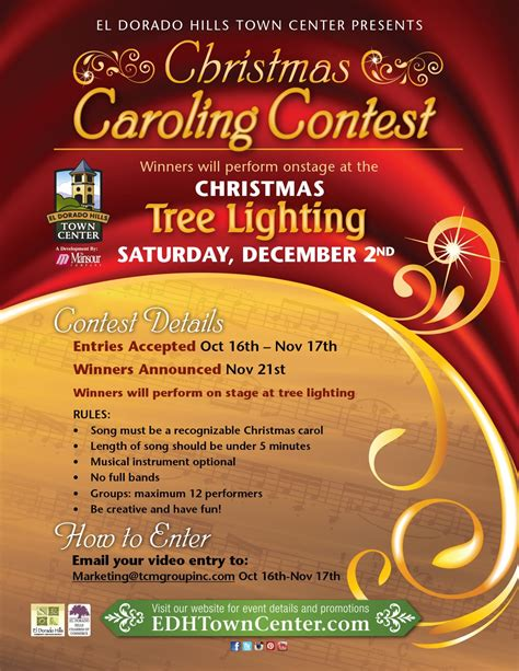 christmas contest voting flyer caroling contest el dorado town center