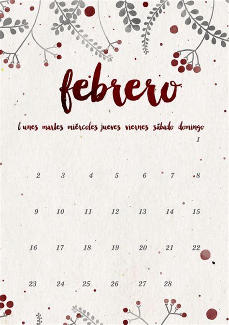 Febrero Calendario 2017 Calendarios 2017 Para Ni 241 Os Con Dibujos Para Descargar E