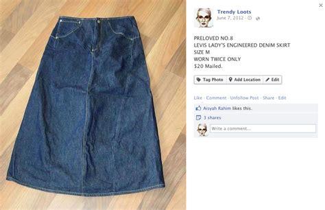 preloved levis engineered denim skirt trendyloots
