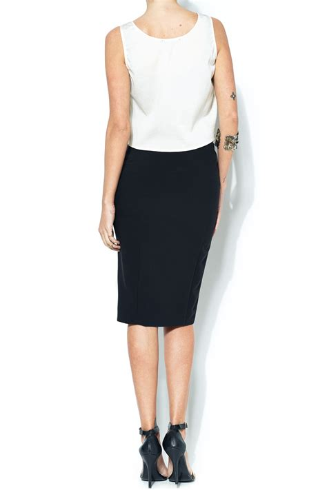 esley collection front slit pencil skirt from bucktown by