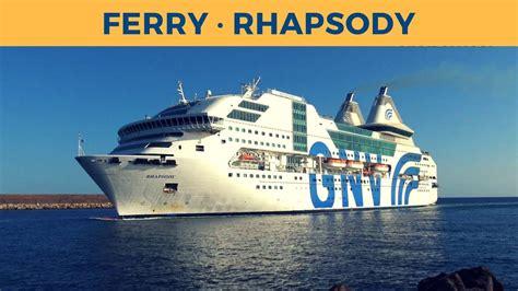 navi genova porto torres arrival of ferry rhapsody in porto torres gnv
