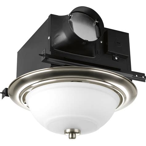 Decorative Bathroom Exhaust Fan With Light Progress Lighting Pv008 Decorative Bathroom Exhaust Fan Pg Pv008