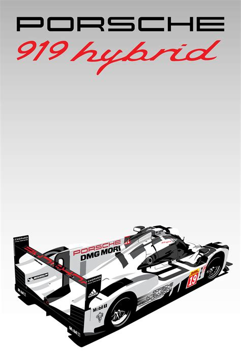 porsche logo vector free download porsche 919 hybrid posters on behance