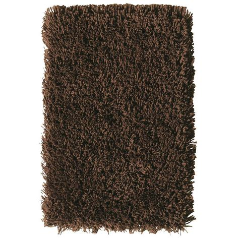 ultimate shag rug home decorators collection ultimate shag brown 5 ft x 7 ft area rug 7575435820 the home depot