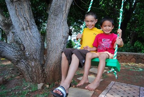 tree swing kids diy tree swing for two in the backyard kidsomania