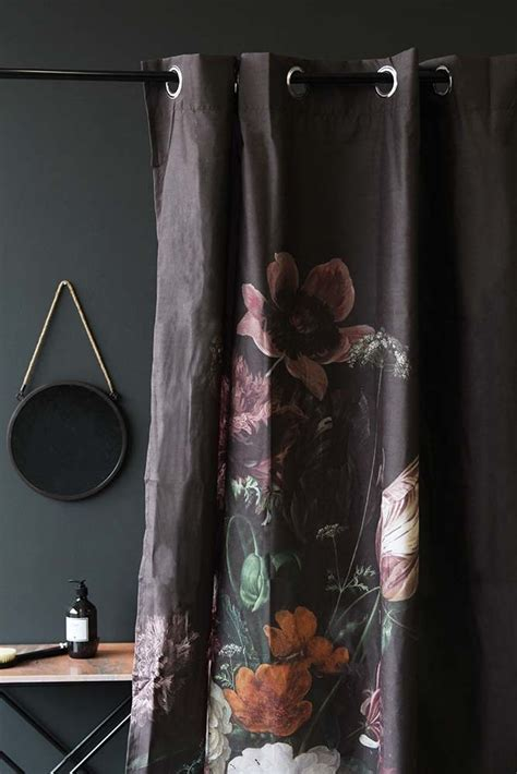 black floral shower curtain black floral shower curtain from rockett st george