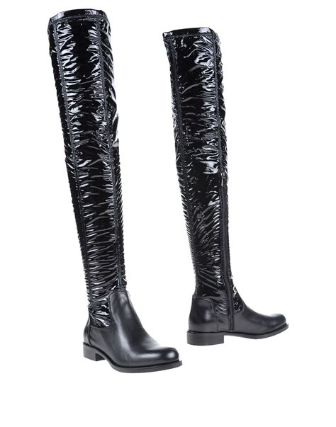 armani boots for emporio armani boots in black lyst