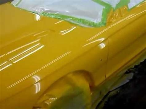 chrome yellow 1998 mustang paint job dupont chrome yellow youtube