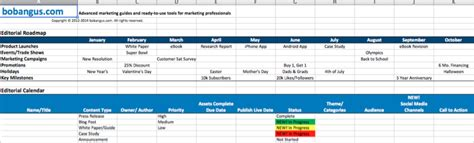 Editorial Calendar Templates For Content Marketing The Ultimate List Website Editorial Calendar Template