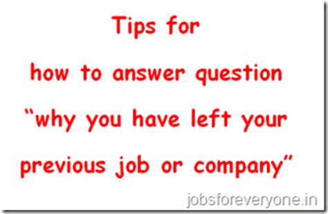 question tips why left last company answer
