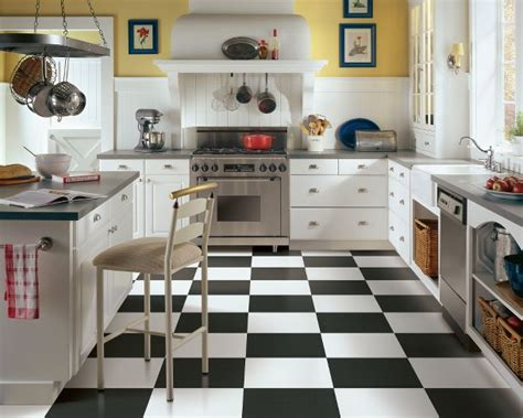 Black And White Kitchen Floor Ideas by Black And White Tile Black And White Vinyl Flooring