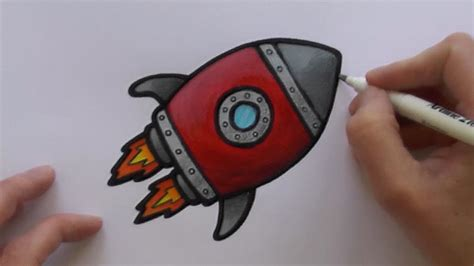 rocket colors how to paint and colour a rocketship