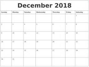 December 2018 Printable Calendar December 2018 Free Calendar