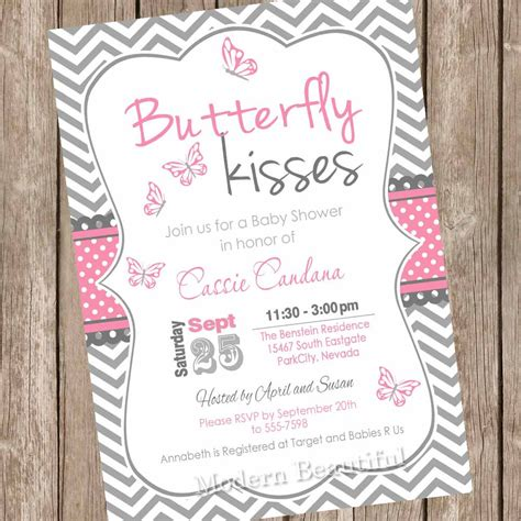 Butterfly Invitations For Baby Shower by Design Butterfly Baby Shower Invitations