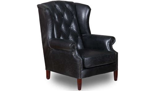 black armchair vintage black leather wing armchair buy at kontenta