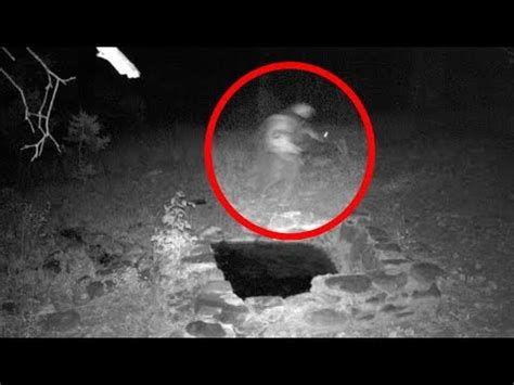 real skinwalker caught on tape on trail cam? (video