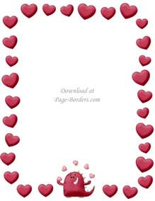 Printable Borders Free Printable Heart Border Customize Online Or Download